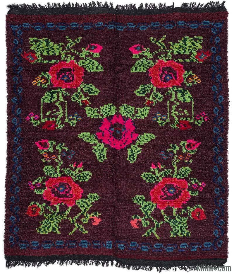 K0015726 Red Vintage Turkish Tulu Rug 5 3 Quot X 6 3 Quot 63 In