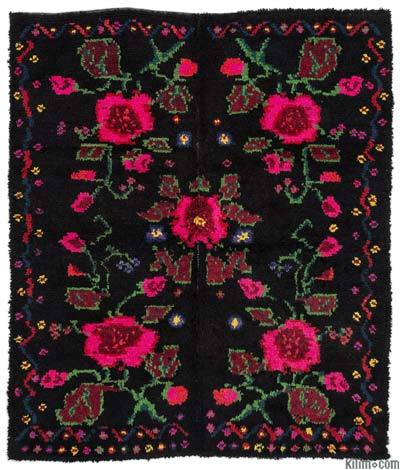 Vintage Turkish Tulu Rug - 5'3'' x 6'3'' (63 in. x 75 in.)