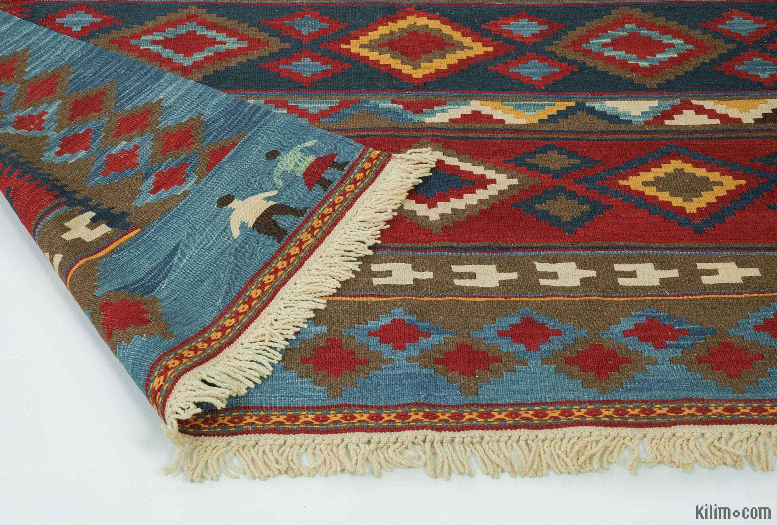 K0015750 Multicolor New Handwoven Turkish Kilim Rug 11