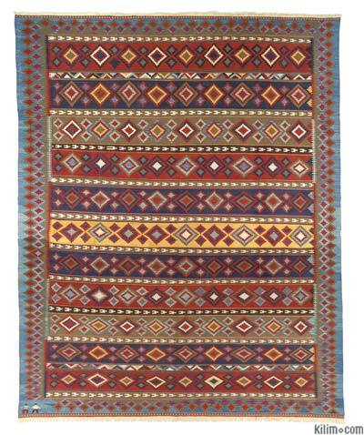 "New Handwoven Turkish Kilim Rug - 11'11"" x 15'1"" (143 in. x 181 in.)"
