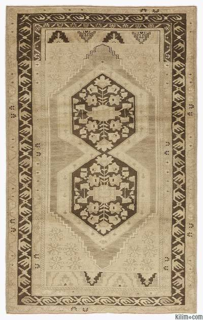 Beige Vintage Turkish Rug - Heritage - 4'7'' x 7'5'' (55 in. x 89 in.)