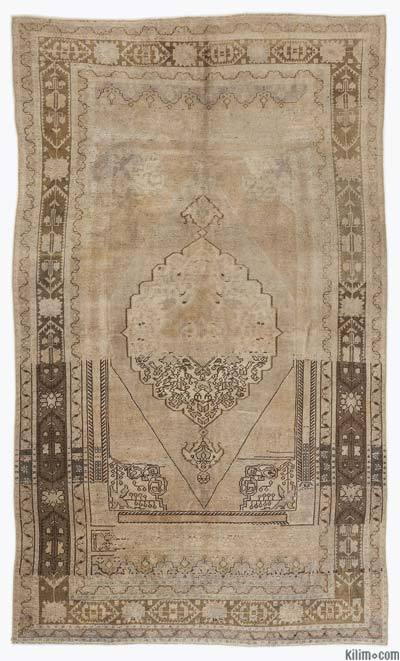 Beige Vintage Turkish Rug - Heritage - 5'3'' x 8'10'' (63 in. x 106 in.)