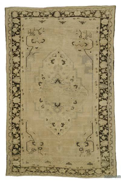 Beige Vintage Turkish Rug - Heritage - 7' x 10'10'' (84 in. x 130 in.)