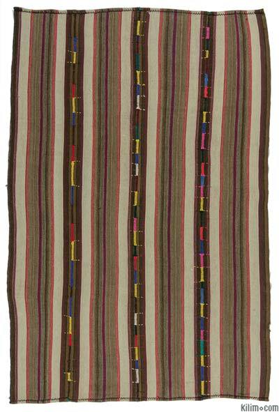 "Vintage Turkish Kilim Rug - 5'3"" x 8'2"" (63 in. x 98 in.)"