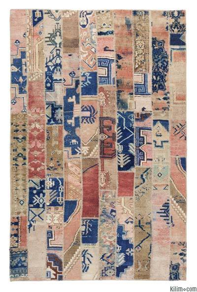 Over-dyed Turkish Patchwork Rug - 6'6'' x 10' (78 in. x 120 in.)