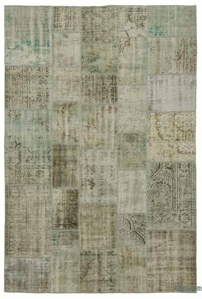 Over-dyed Turkish Patchwork Rug - 6'8'' x 9'10'' (80 in. x 118 in.)