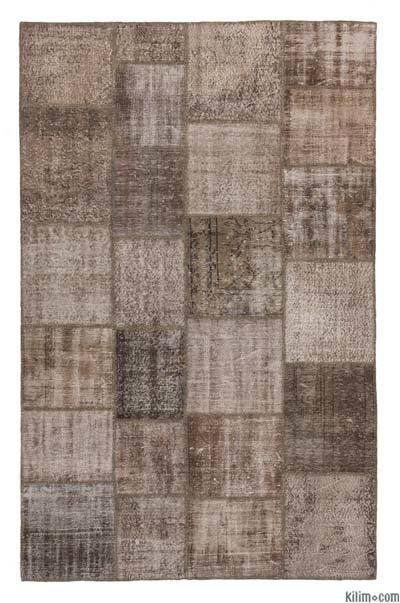 Over-dyed Turkish Patchwork Rug - 6'4'' x 9'11'' (76 in. x 119 in.)