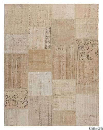 "Over-dyed Turkish Patchwork Rug - 7'9"" x 10' (93 in. x 120 in.)"