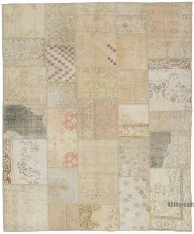 "Over-dyed Turkish Patchwork Rug - 8'3"" x 9'11"" (99 in. x 119 in.)"