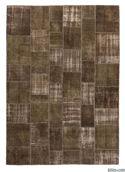 "Over-dyed Turkish Patchwork Rug - 8' x 11'3"" (96 in. x 135 in.)"