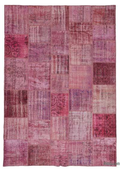 "Over-dyed Turkish Patchwork Rug - 8'2"" x 11'7"" (98 in. x 139 in.)"
