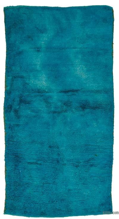 Turquoise Vintage Turkish Tulu Rug - 4' x 7'11'' (48 in. x 95 in.)