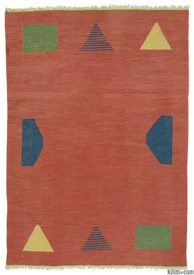 "New Turkish Kilim Rug - 5'5"" x 7'9"" (65 in. x 93 in.)"