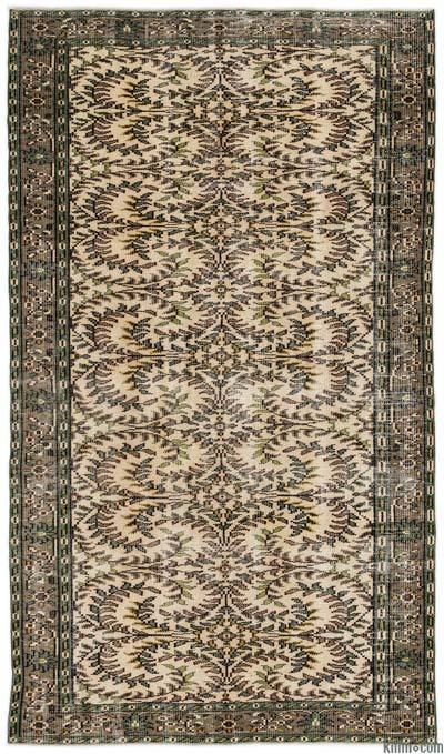 Turkish Vintage Area Rug - 4'6'' x 7'9'' (54 in. x 93 in.)