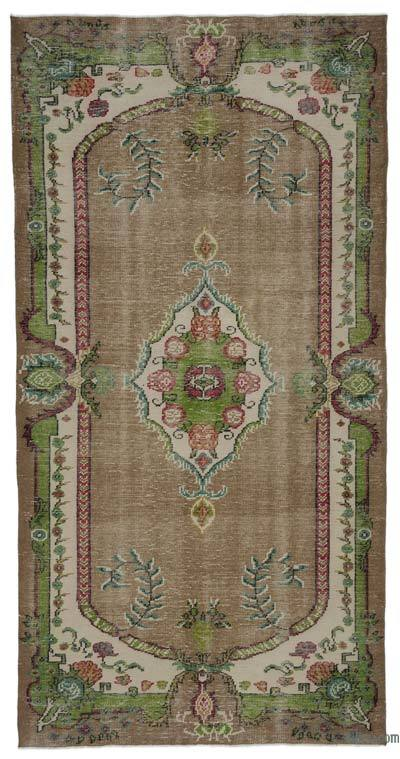 "Turkish Vintage Area Rug - 4'10"" x 9'6"" (58 in. x 114 in.)"