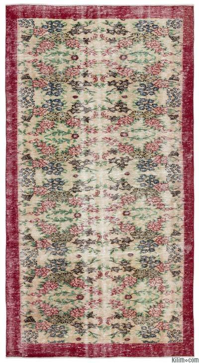 "Turkish Vintage Area Rug - 5'3"" x 9'4"" (63 in. x 112 in.)"