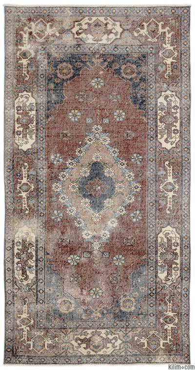 "Turkish Vintage Area Rug - 4'3"" x 8'2"" (51 in. x 98 in.)"