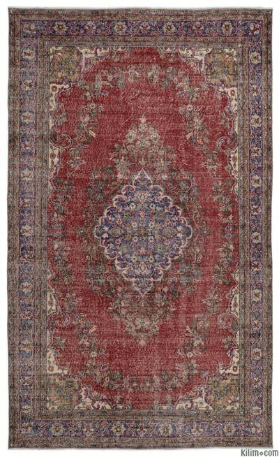 "Turkish Vintage Area Rug - 6'5"" x 10'9"" (77 in. x 129 in.)"