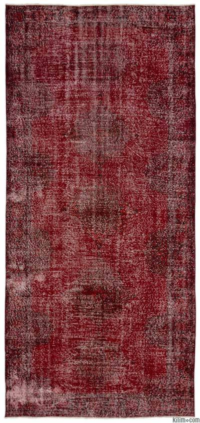Over-dyed Turkish Vintage Rug - 5'4'' x 11'8'' (64 in. x 140 in.)