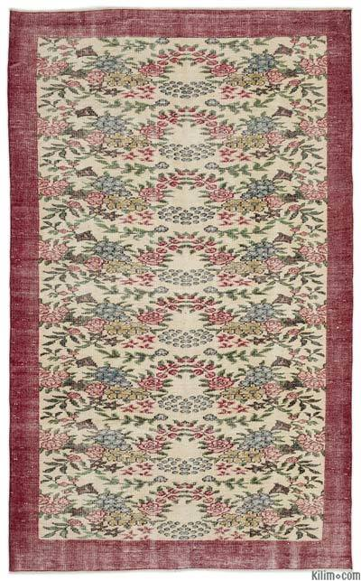 "Turkish Vintage Area Rug - 5'5"" x 8'11"" (65 in. x 107 in.)"