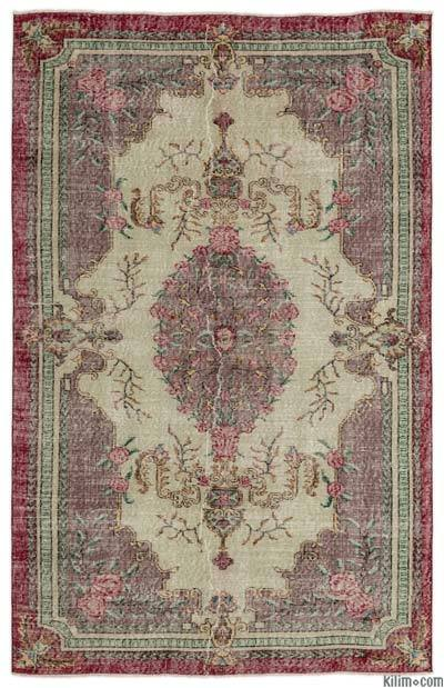 "Turkish Vintage Area Rug - 5'1"" x 8' (61 in. x 96 in.)"