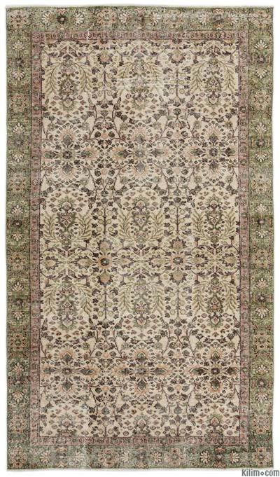 "Turkish Vintage Area Rug - 5' x 8'10"" (60 in. x 106 in.)"