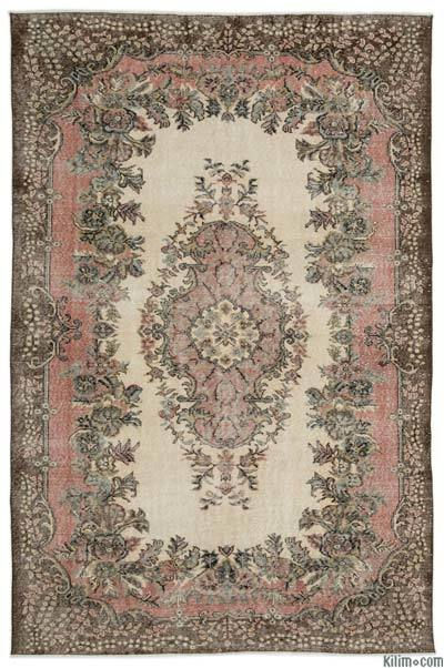 Turkish Vintage Area Rug - 6'8'' x 10'1'' (80 in. x 121 in.)