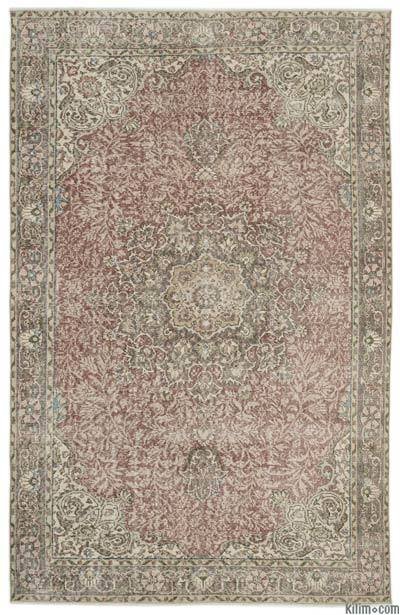 "Turkish Vintage Area Rug - 6'9"" x 10'8"" (81 in. x 128 in.)"