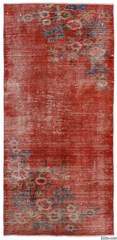 "Turkish Vintage Area Rug - 3'1"" x 6'4"" (37 in. x 76 in.)"