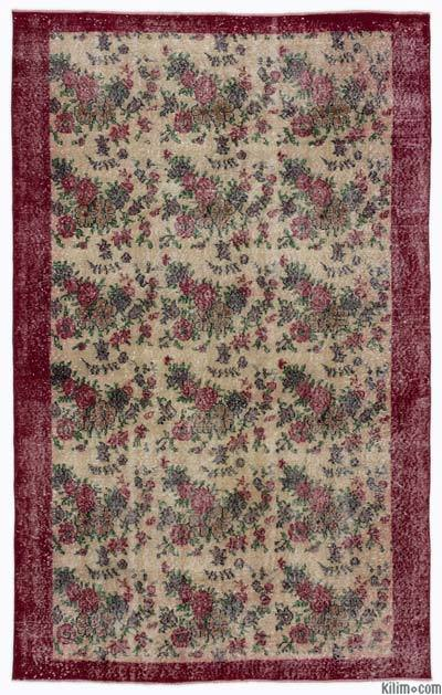 "Turkish Vintage Area Rug - 5'3"" x 8'5"" (63 in. x 101 in.)"