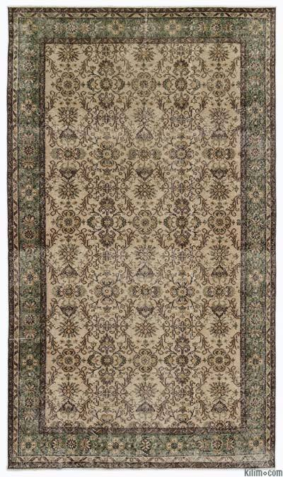 Turkish Vintage Area Rug - 5'8'' x 9'7'' (68 in. x 115 in.)