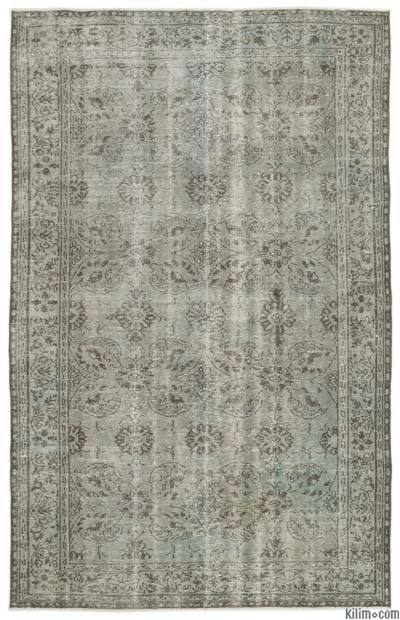 "Over-dyed Turkish Vintage Rug - 6'2"" x 9'11"" (74 in. x 119 in.)"