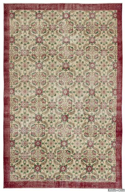 Turkish Vintage Area Rug - 6'7'' x 10'6'' (79 in. x 126 in.)