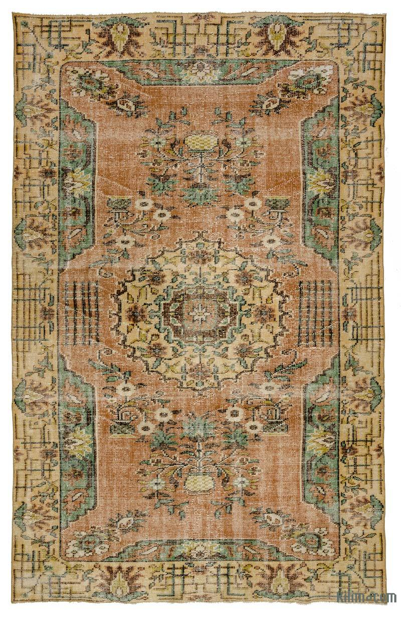 K0016912 Turkish Vintage Rug 6 4 X 10 76 In X 120 In