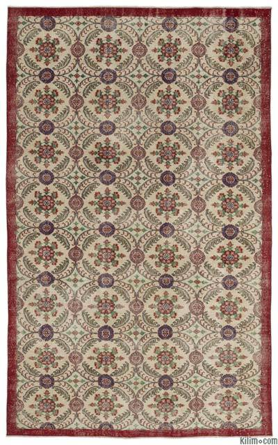 "Turkish Vintage Area Rug - 6'4"" x 10'3"" (76 in. x 123 in.)"