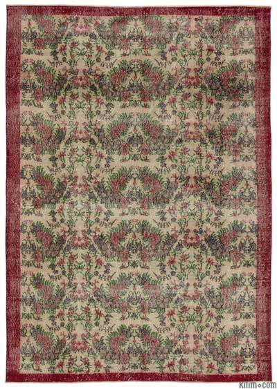 "Turkish Vintage Area Rug - 7' x 10'3"" (84 in. x 123 in.)"