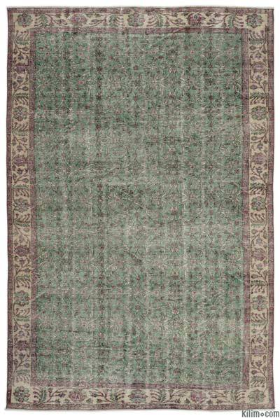 "Turkish Vintage Area Rug - 6'4"" x 9'6"" (76 in. x 114 in.)"