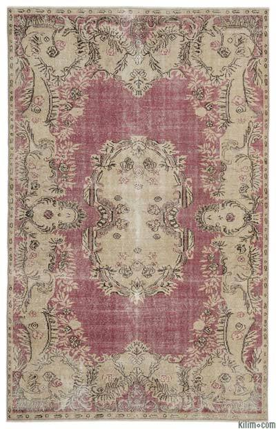 "Turkish Vintage Area Rug - 6'1"" x 9'10"" (73 in. x 118 in.)"