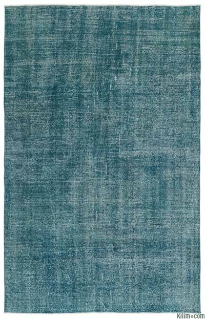 "Over-dyed Turkish Vintage Rug - 6'5"" x 10'2"" (77 in. x 122 in.)"