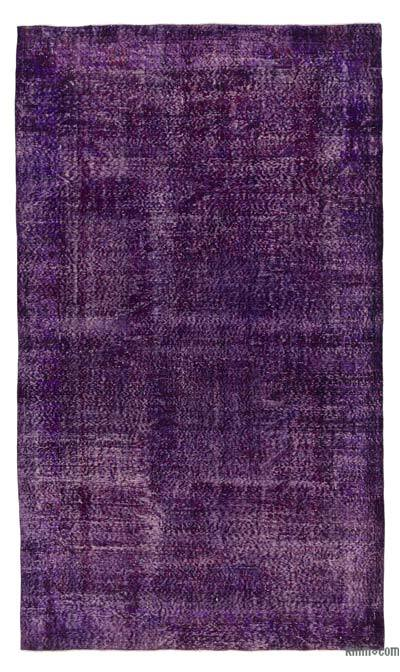 Purple Over-dyed Turkish Vintage Rug - 5'9'' x 9'11'' (69 in. x 119 in.)
