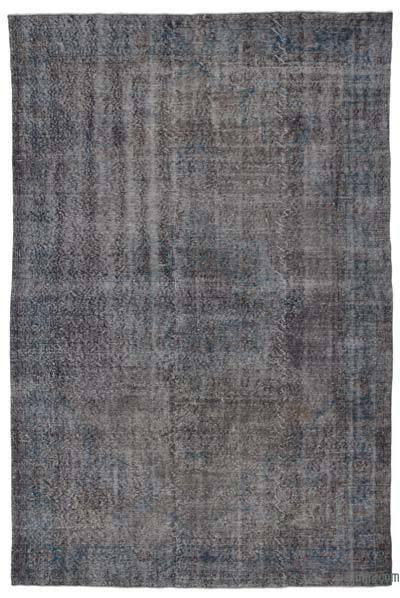 Grey Over-dyed Turkish Vintage Rug - 6'8'' x 10' (80 in. x 120 in.)