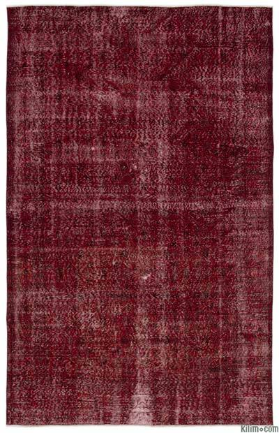 "Over-dyed Turkish Vintage Rug - 6'7"" x 10'6"" (79 in. x 126 in.)"