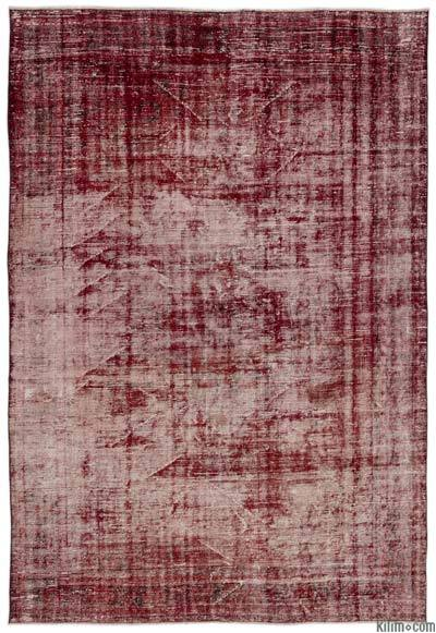 "Over-dyed Turkish Vintage Rug - 6'8"" x 9'9"" (80 in. x 117 in.)"