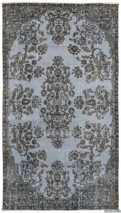 "Over-dyed Turkish Vintage Rug - 4'10"" x 8'7"" (58 in. x 103 in.)"