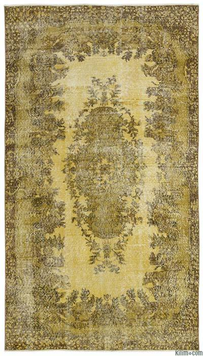 "Over-dyed Turkish Vintage Rug - 5'3"" x 9'6"" (63 in. x 114 in.)"