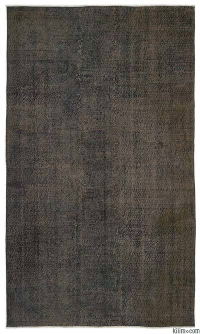 Grey Over-dyed Turkish Vintage Rug - 5'3'' x 8'11'' (63 in. x 107 in.)