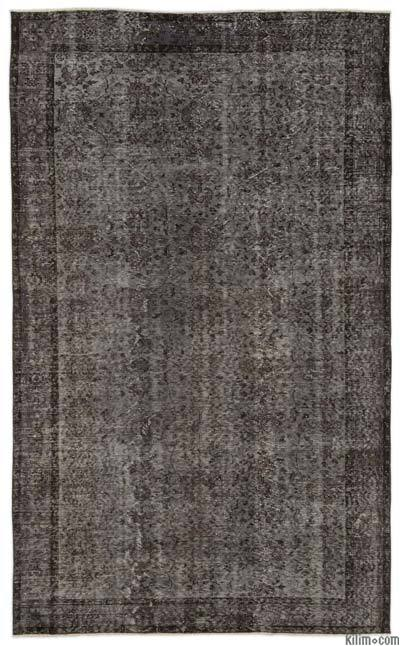 Grey Over-dyed Turkish Vintage Rug - 5'9'' x 9'4'' (69 in. x 112 in.)