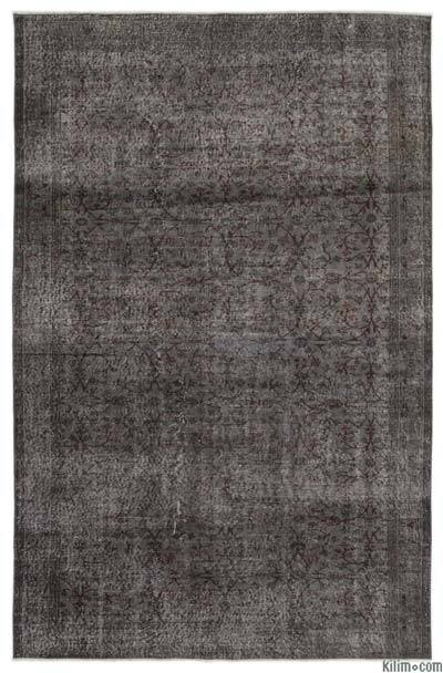 Grey Over-dyed Turkish Vintage Rug - 6'6'' x 10' (78 in. x 120 in.)