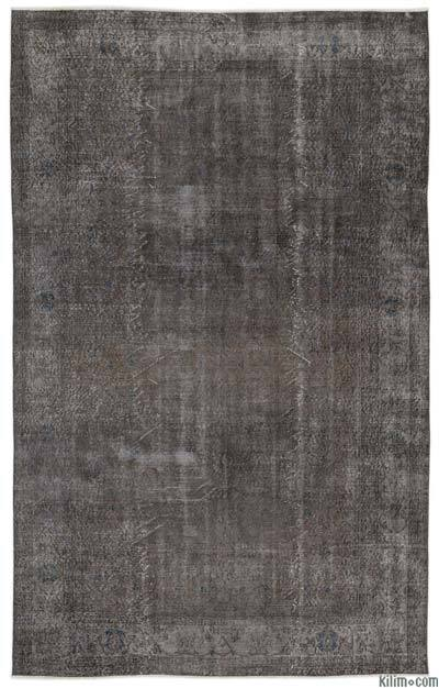 Grey Over-dyed Turkish Vintage Rug - 6'5'' x 10'3'' (77 in. x 123 in.)
