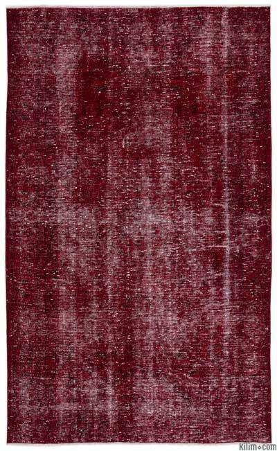 "Over-dyed Turkish Vintage Rug - 5'3"" x 8'10"" (63 in. x 106 in.)"